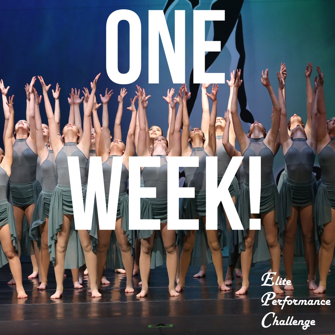 We can't believe it's that time of year... our first events of the season are just ONE WEEK away! #DanceGoals #ElitePerformanceChallenge #DanceCompetition #Inspirepic.twitter.com/5uJZnZzKBk