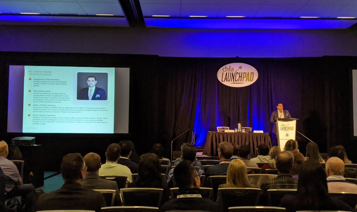 Thanks @_deepakanand  for giving us the state of #CBD  regulations and #cbd  in #healthproducts  in Canada. Great insights for our industry to consider.   #CHFAWest   @MateriaVentures