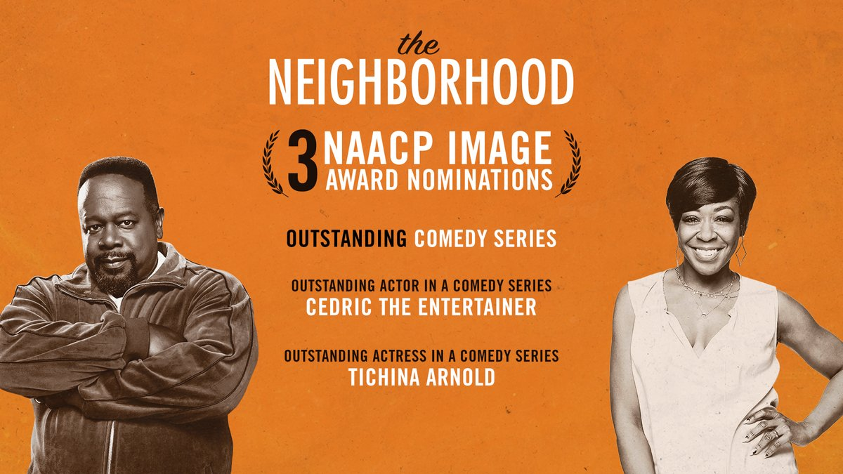 Our dynamic duo @TichinaArnold & @CedEntertainer are nominated for Outstanding Supporting Actress & Outstanding Actor at the #NAACPImageAwards. Tune in to @BET Saturday, February 22 at 8/7c. 🎉