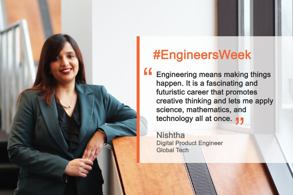 Nishtha is a Product Innovation #Engineer. She creates innovative #nextgen digital products that solve #tech challenges across our #vaccines business to improve R&D and commercial processes, raise margins & optimize #customerexperience. 📐⚙️🧪💻 #EngineeringWeek #eWeek #STEM https://t.co/NJbOCtxfdB