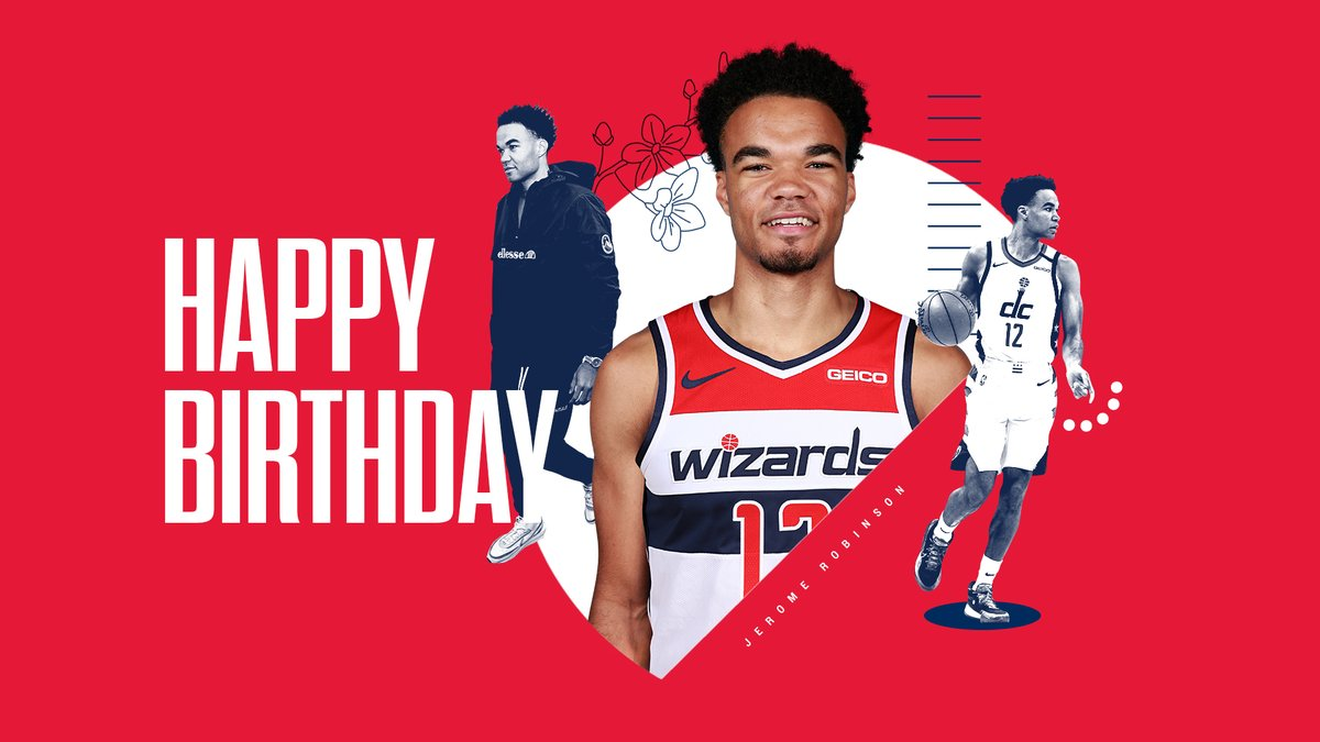 Happy birthday, Jerome Robinson! 🥳🎂  #RepTheDistrict | @Rome_Coldbucks1