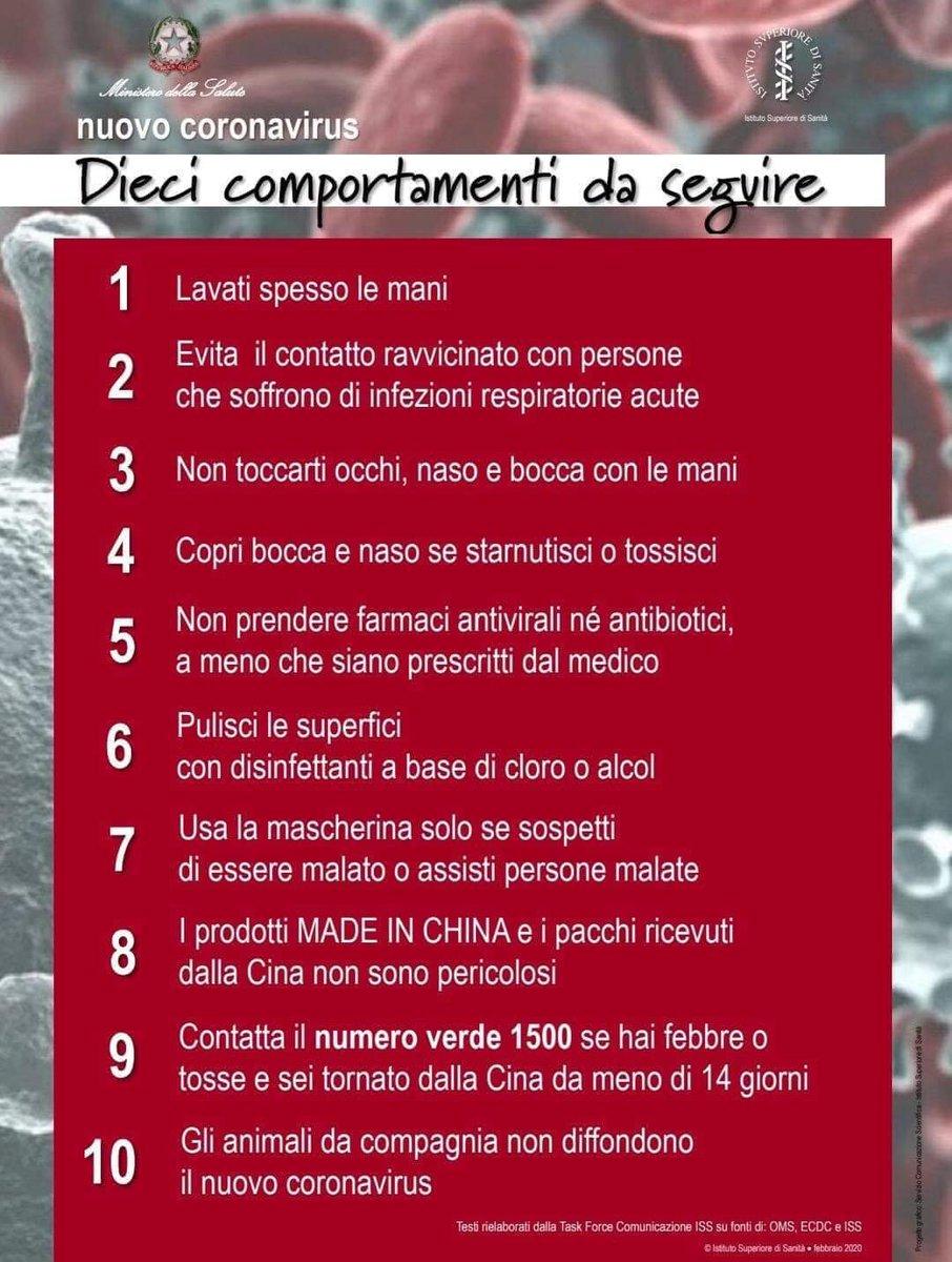 #CoronavirusItalia: dieci comportamenti corretti d...