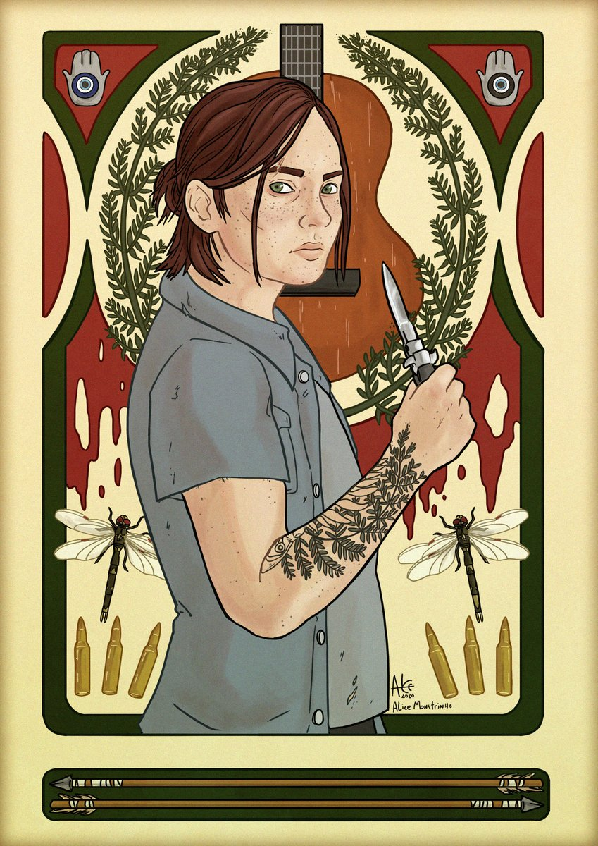 #FanArtFriday: Art Nouveau Ellie from The Last of Us Part II. Thanks for creating and sharing this with us, Alice Monstrinho!  Want a chance to have your own fan art featured? Send it our way here: