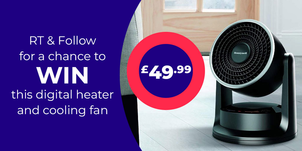 To be in with a chance to WIN this Honeywell digital heater & cooling fan simply RT, FOLLOW & TAG a friend with #winstudio in the comments 🔥🔥  You can also check out our range of heaters here https://bddy.me/2PbztQU   UK only. Ends 23/02/20  #Win #Giveaway #Heater #Fan