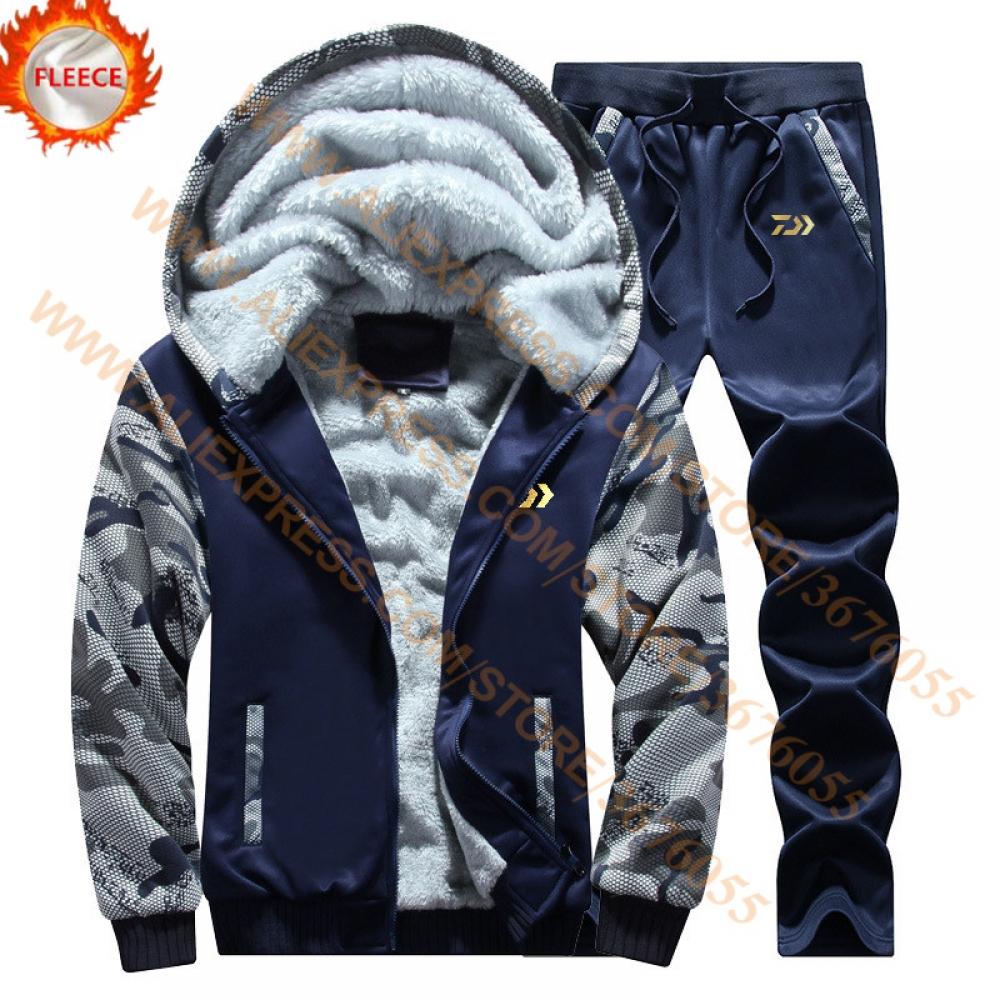 #happy #streetstyle #moda DAIWA Fleece Shirt And Pants Men Jacket