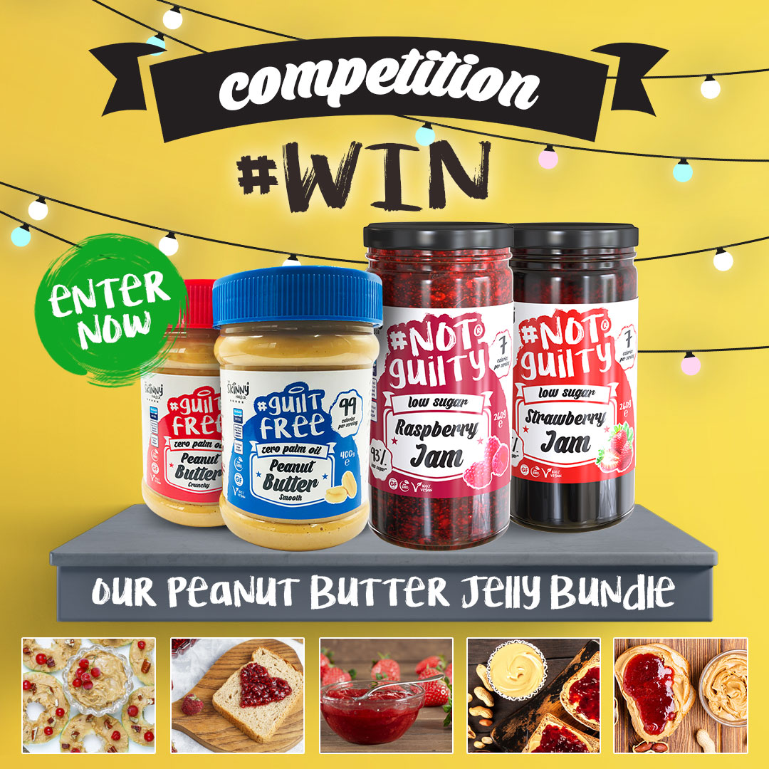 COMPETITION TIME 🎉😍🥜🍓 Want to #WIN our Peanut Butter Jelly Bundle? 😍 To enter all you have to do is: - Like the post & follow us - Comment tagging 3 friends  - Share the post 😍 Winner will be announced next Friday 28th February 🎉🤩 #SkinnyFoodCo #NotGuilty