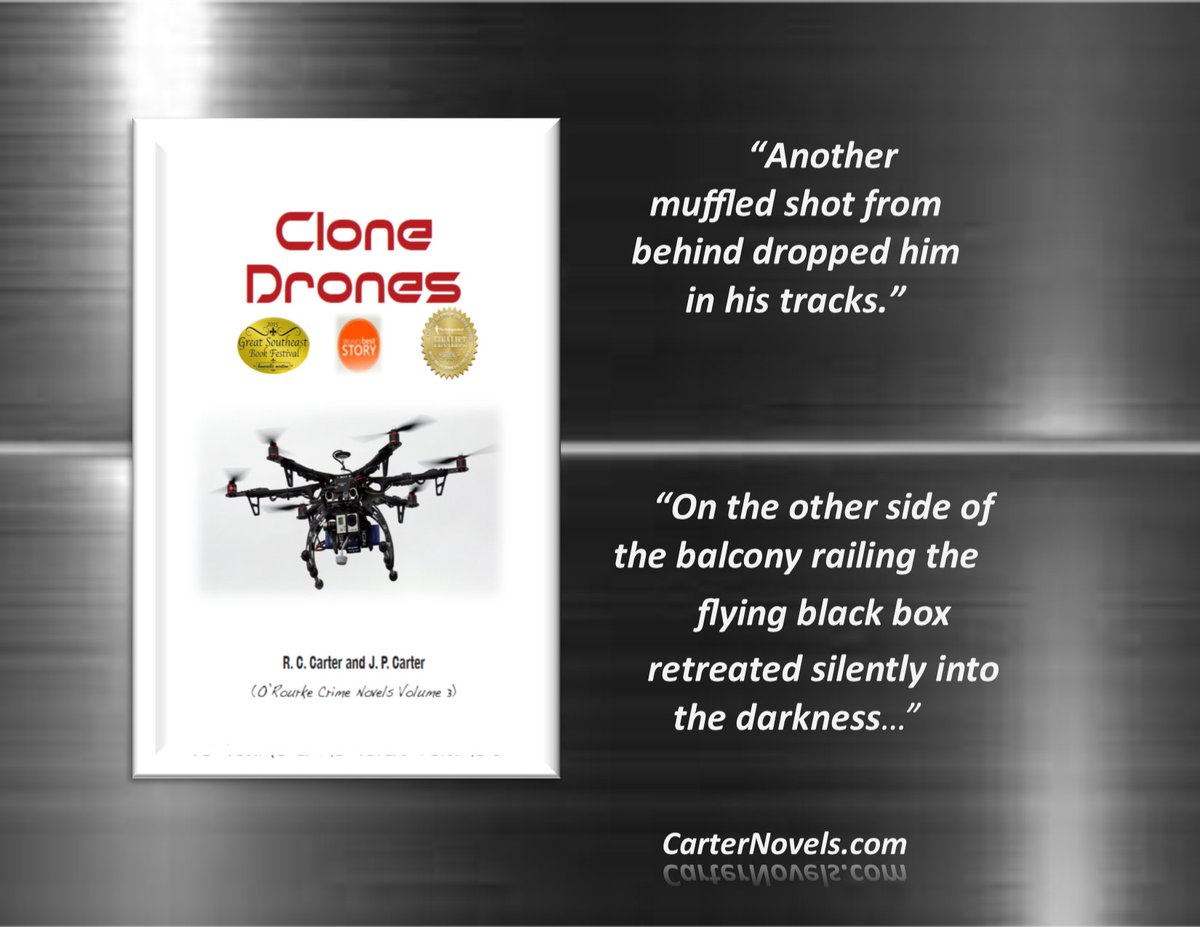 IS GUN LEGISLATION  BEHIND THE WEAPONIZED DRONES? https://buff.ly/2BMSLoI  FIND OUT FOR YOURSELF!  READ CLONE DRONES TODAY. #Books #IARTG #Kindle #Amazon #ReadIndie #indieauthors #ian1 #mybookagents  #Authors @JPCarter47   @davepperlmutter