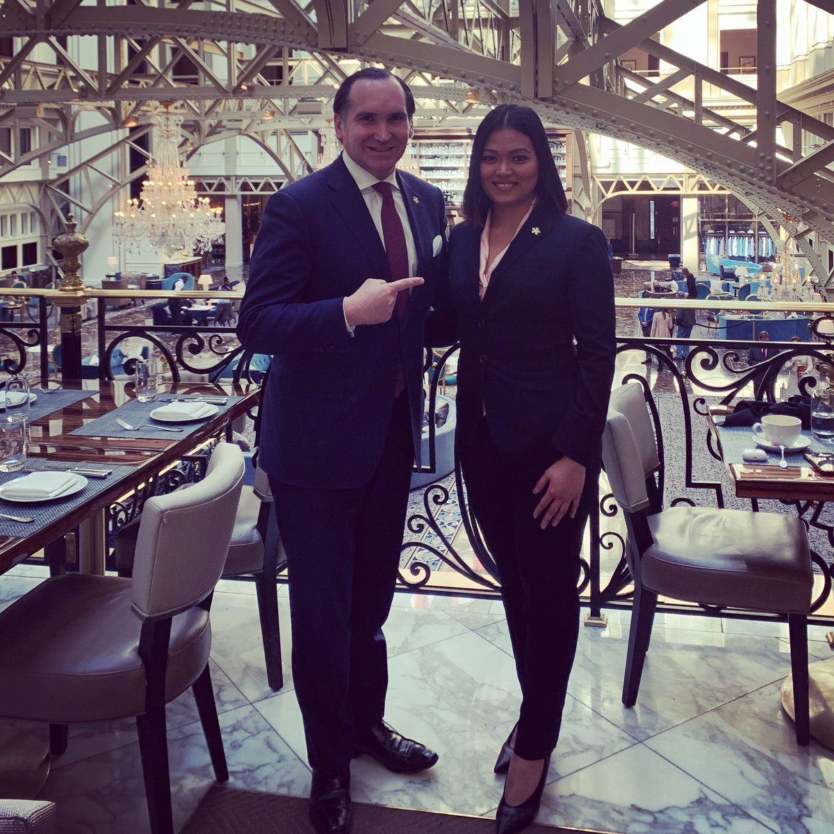 Great lunch with Sasha today...She and her team have done a fantastic job at our @TrumpDC @TrumpStore over the last 3 years...Keep up the great work and THANK YOU!!! #bestteam #trumpteam #Trump #shopping #store #success #neversettle #WashingtonDC #thankyoupic.twitter.com/YhtpOWHyFH – at Trump® International Hotel Washington, D.C.