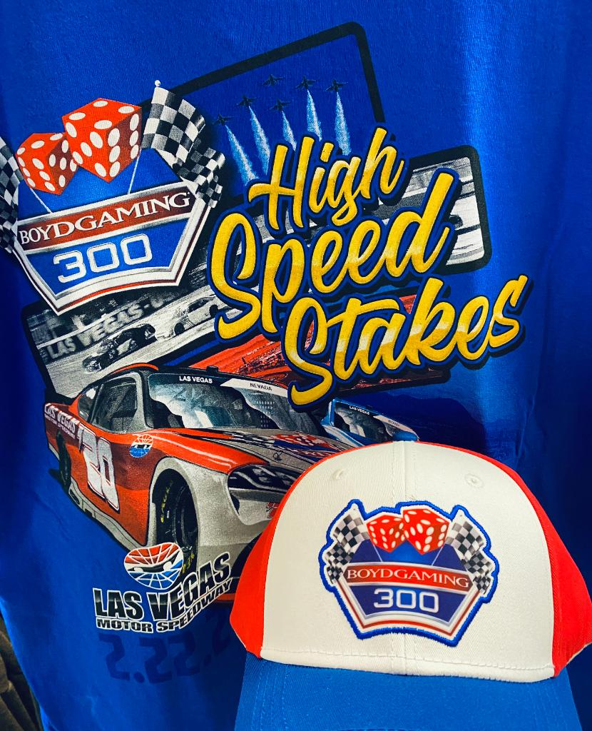 Visit your favorite @Boyd Gaming Corporation casino gift shop TODAY to stock up on the Boyd Gaming 300 T-Shirt and Hat! You are sure to win best-dressed at the race this weekend! https://t.co/4BuZqAEkL6