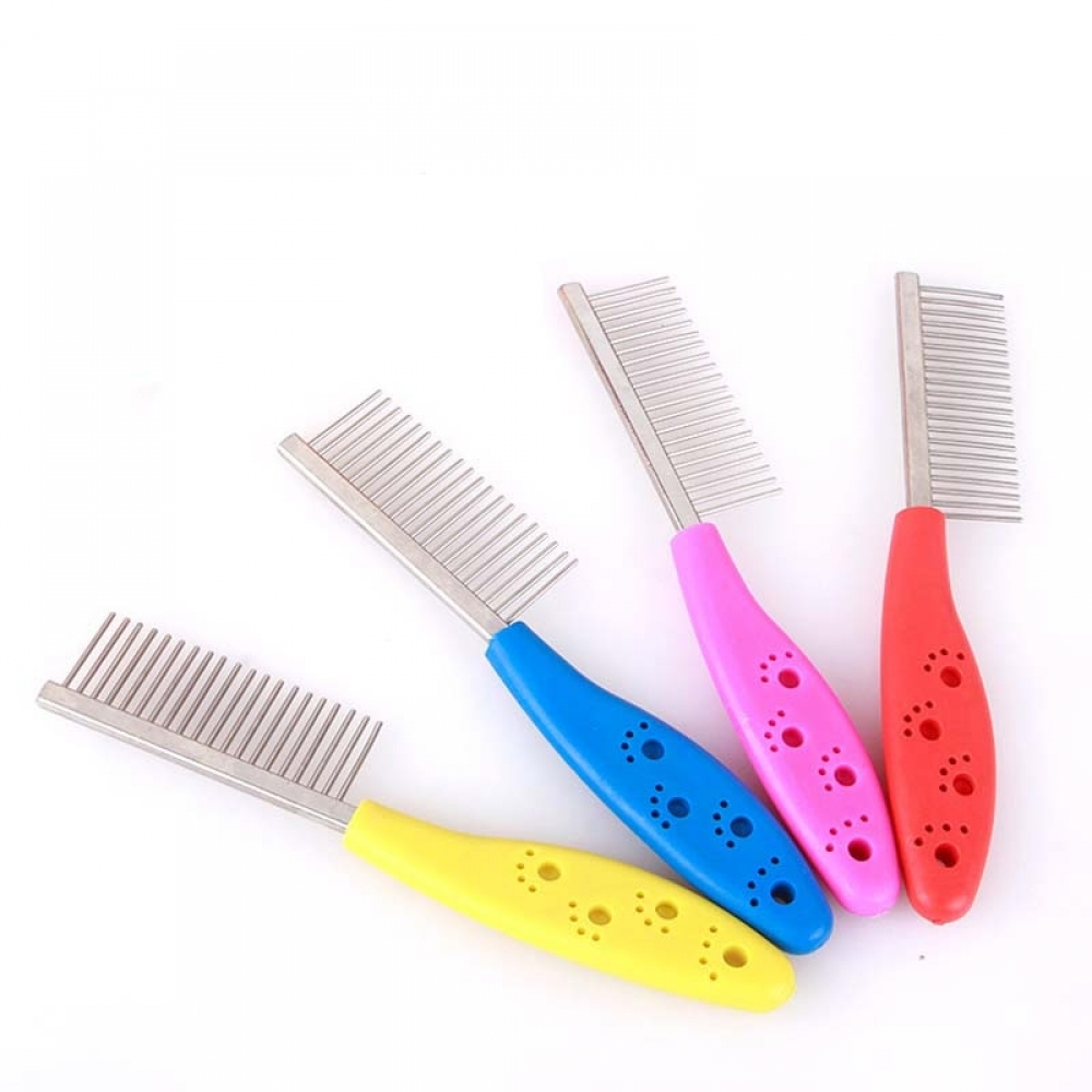 #life #lol Stainless Steel Dog's Single Row Straight Comb