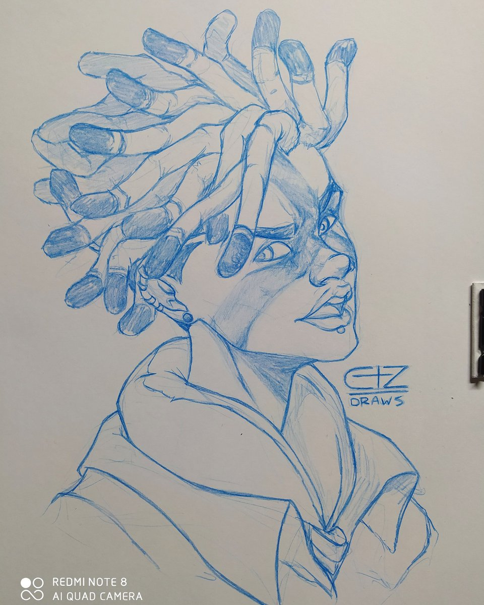 League of Legends - Ekko True Damage #leagueoflegends #lol #ekko #truedamage #pencilart #pencildraw #pencildrawing #pencildrawings #pencil #pencilsketch #pencilportrait #bluepencil #sketching #sketchbook #sketch #sketchwork #characterart #characterdesign #drawingdaily #drawdaily