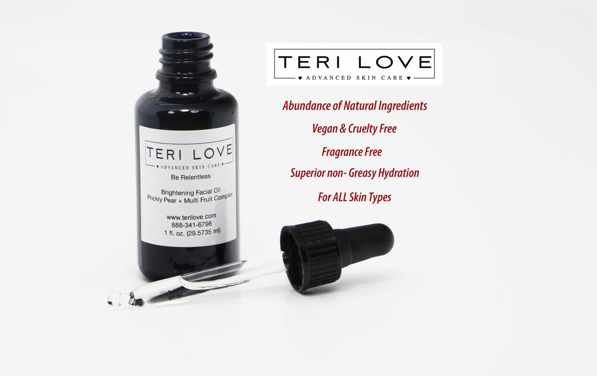 Be Relentless is an ALL natural super fruit facial oil, crafted to leave your skin brighter & more supple! Powerful antioxidants to fight against fine lines & wrinkles! Use code: BRENDALOVE for 10% off! http://terilove.compic.twitter.com/hWh4kFvo6Y