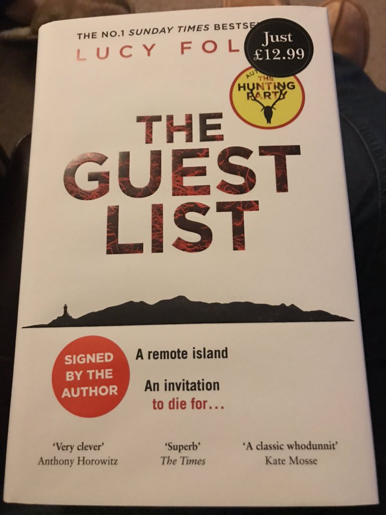 Picked this up today. (It has sprayed edges and is signed!) @Waterstones @WaterstonesLivi @HarperFiction @lucyfoleytweets