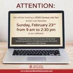 Image for the Tweet beginning: Census job fair this weekend