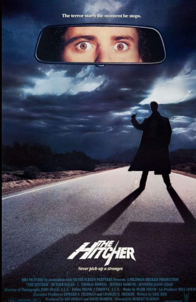 Released #OnThisDay in 1986 , The Hitcher. #80s #HorrorMovies pic.twitter.com/yG4jf4lIxC