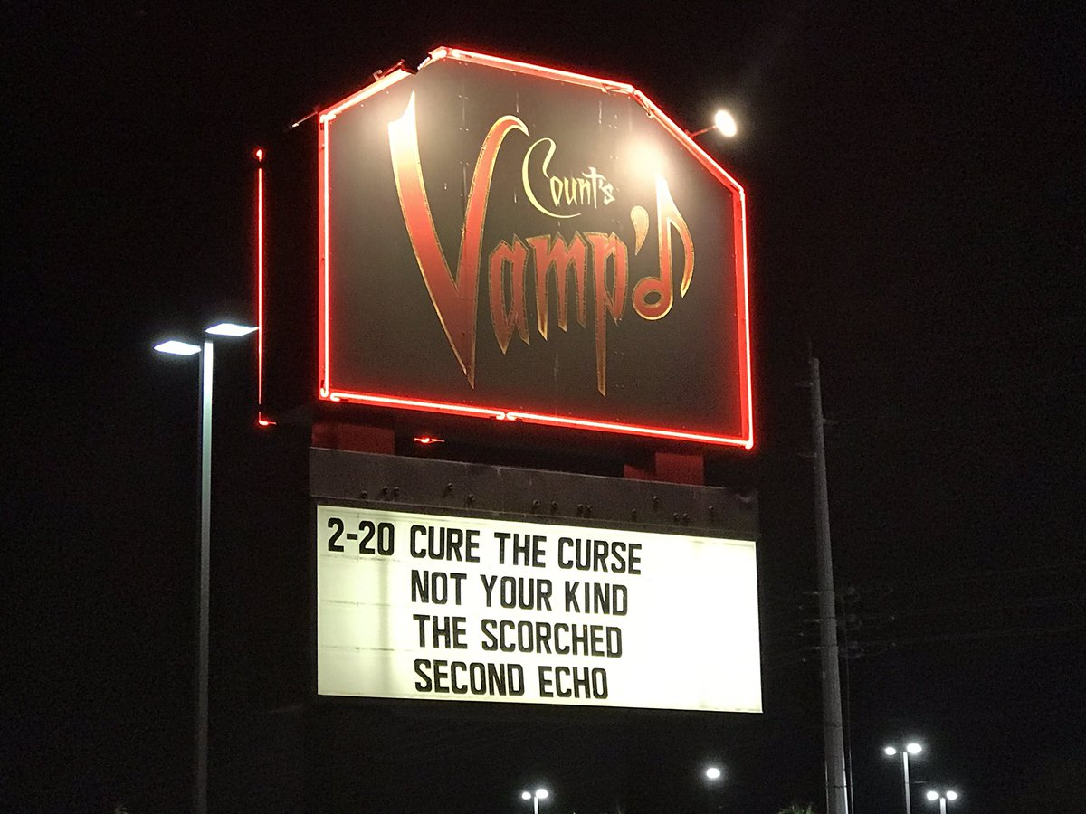 Thank you @JohnGist16 @VegasRockRev -  @VampdVegas - @TheScorched - #NotYourKind & #CureTheCurse & everyone who came out last night to support #live #music, & @secondechomusic   More Pics/Videos coming soon.... 🙂  #Southern #Nevada #LasVegas #NV #LiveMusic #LocalMusicScene https://t.co/vFQ1S05riK