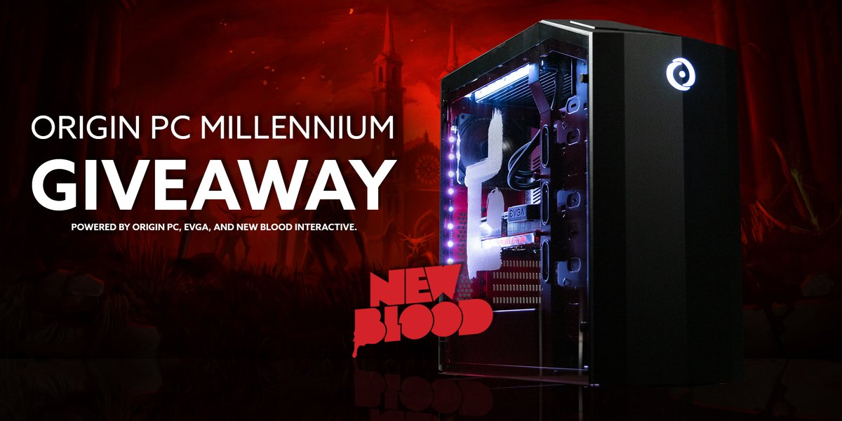 We've partnered with @NewBlood to giveaway a custom MILLENNIUM gaming desktop powered by an NVIDIA GeForce RTX 2080 graphics card from EVGA!  Enter for a chance to win this custom MILLENNIUM desktop and PLAY DUSK: