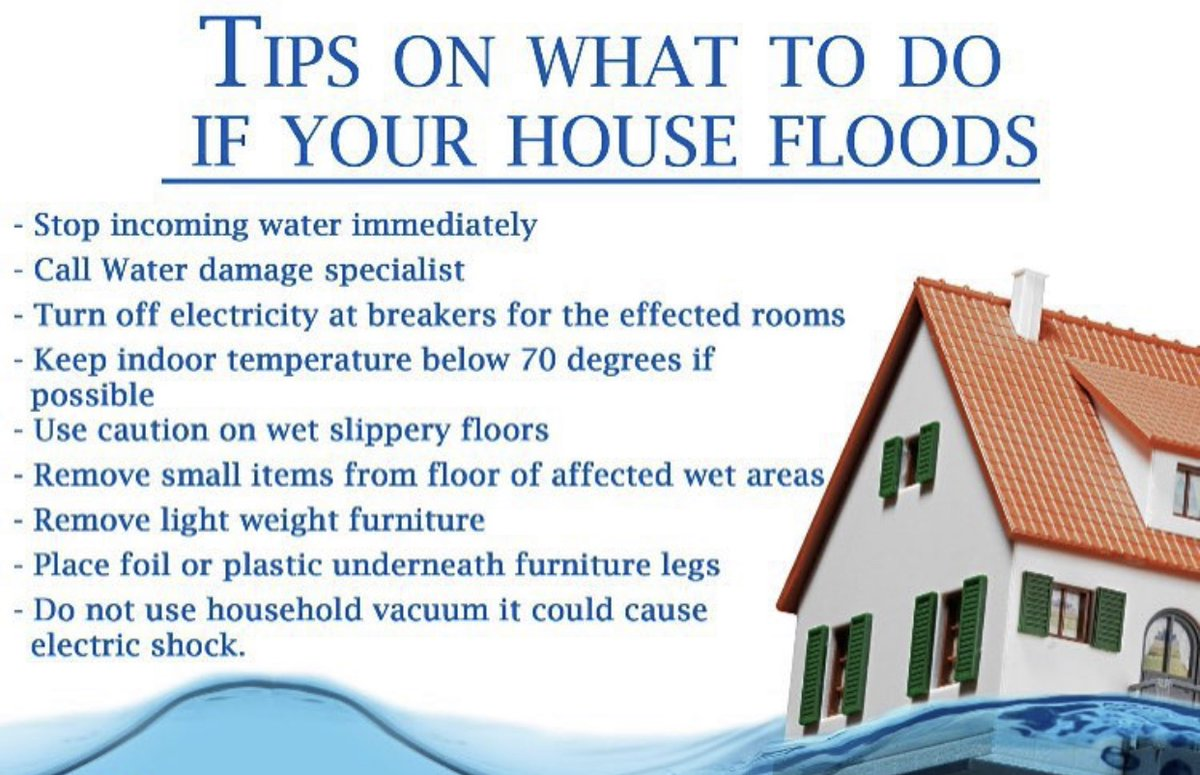 What to do if your house floods! Trust Aspen Environmental to walk you through the entire restoration process. Call us toll free at (978)-681-5023. #Water #Mold #Damage #Restoration #Remediation #Flood #HomeTip #TipOfTheMonth #Tips #Realtor #PropertyManager #Aspen #Environmentalpic.twitter.com/HS8B7QekU8