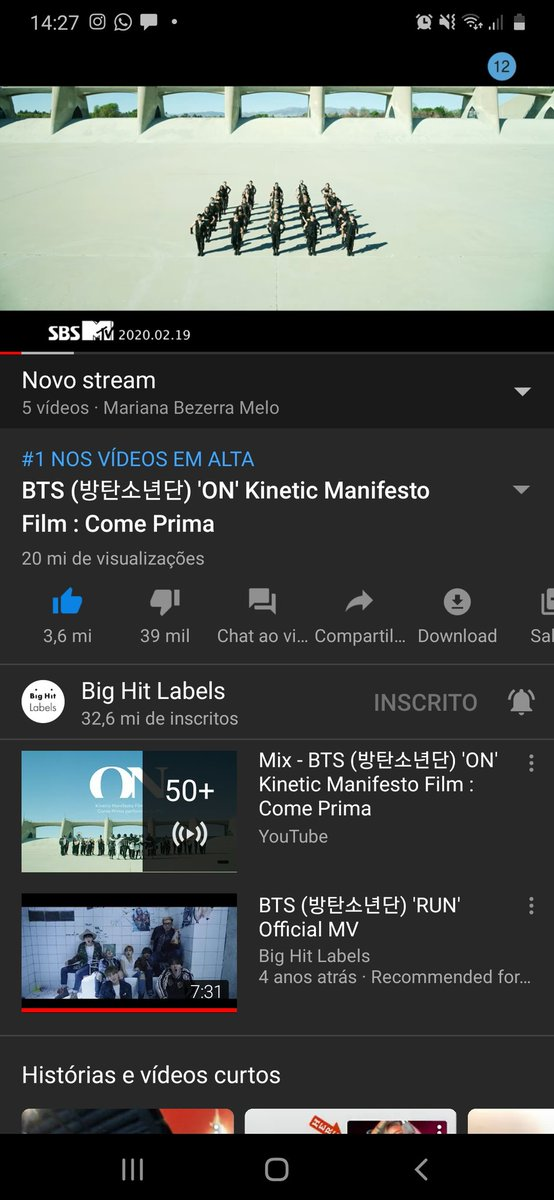 You never walk alone ami. This was thought my day, notice the #1 on trending video, I live in Brazil, and here is trending. Let's do our best. @BTS_twt #btsON #BTSComeback2020 #WeONWithBTSpic.twitter.com/SVcpN1n7ZL