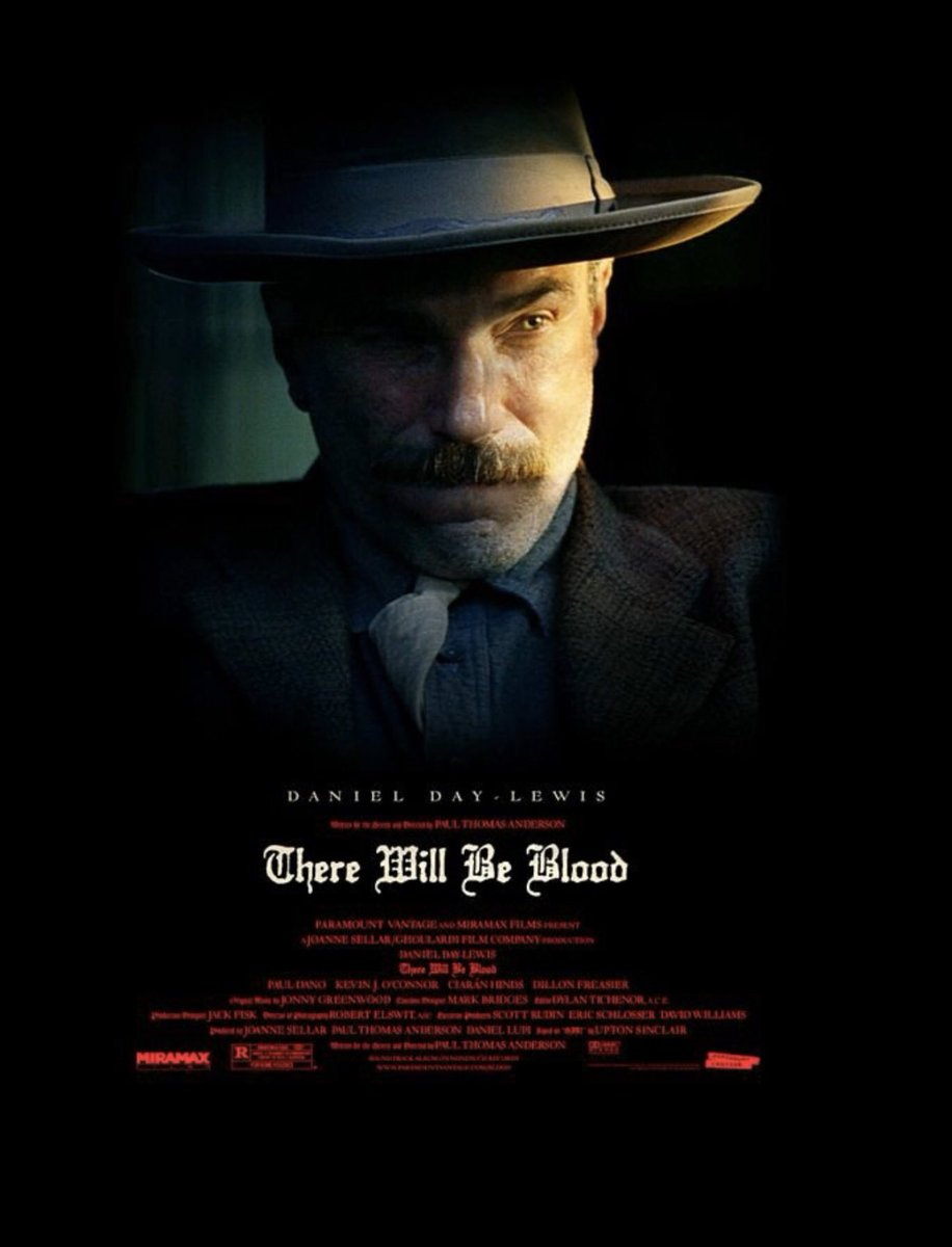 #ThereWillbeBlood #PaulThomasAnderson #DanielDayLewis #PaulDano Excellent movie. Day-Lewis staggeringly good. pic.twitter.com/Q1RIzZ50HH