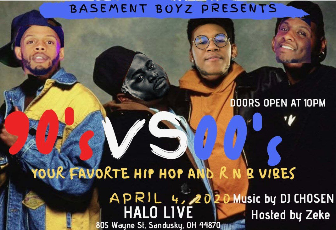 We Back!!! @BasementBoyzPod Presents: 90s vs 00s Party with all of your Hip Hop and RNB favorites! Hosted by Zeke. Music by DJ Chosen at Halo Live, Mohawk Studio. Doors Open at 10Pm. Pre-Sale Tickets are Available. Contact Zeke or DJ Chosen for More Information <br>http://pic.twitter.com/aqwSlfkPrS
