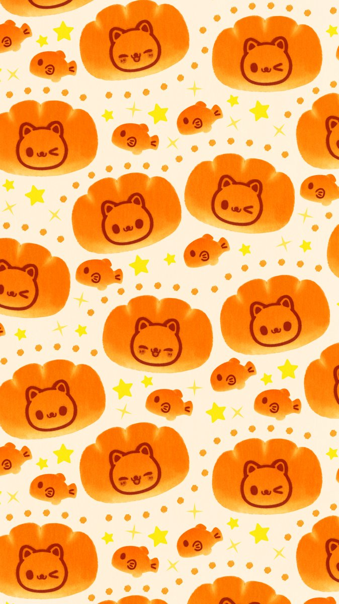 ট ইট র Omiyu みゆき ねことお魚のパン壁紙 Illust Illustration クリームパン ネコ イラスト Iphone壁紙 壁紙 ねこの日 猫の日 にゃんにゃんにゃんの日