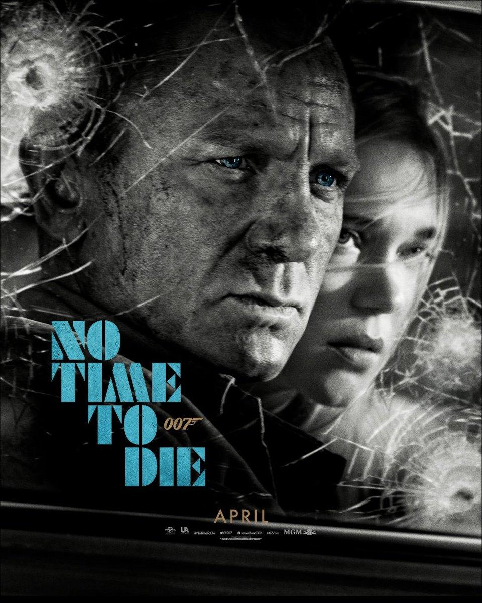 ¿Qué les parece el póster oficial de #NoTimeToDie de @007? La película e se estrenará en abril y protagonizada por #DanielCraig, #LéaSeydoux y @ItsRamiMalek.  #BondJamesBond #Bond25