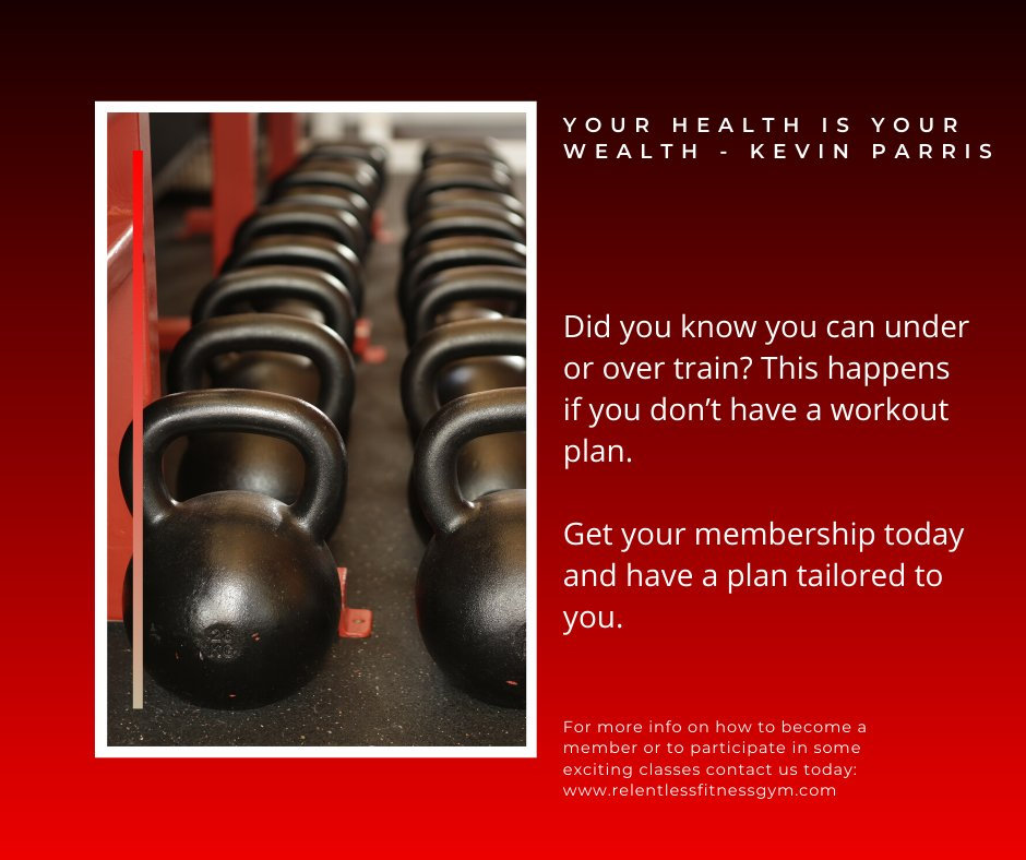 Did you know you can under or over train? This happens if you don't have a workout plan. Get your membership today and have a plan tailored to you. #fitnesscoach #fitnessbody #fitnessinspiration #fitnessfood #fitnessgearpic.twitter.com/7J2rgYXmqn