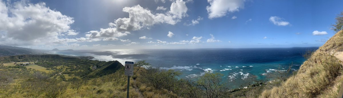 Climbed to the top of Diamond Head Crater and the view is breathtaking' #Hawaii #AmazingComicConAloha