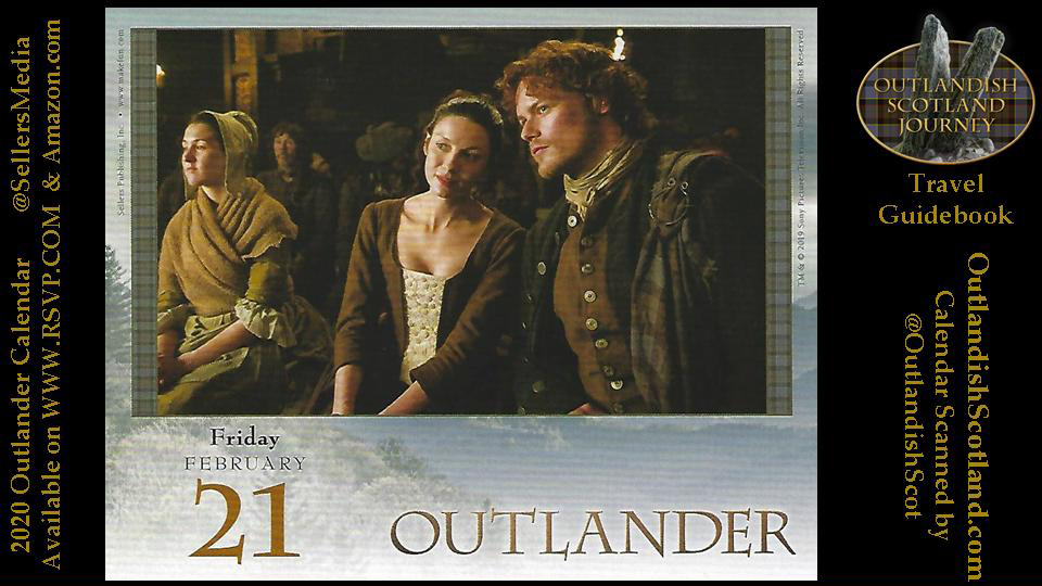CAITRIONA BALFE #CaitrionaBalfe (center)  as Claire Elizabeth Beauchamp   SAM HEUGHAN #SamHeughan  as Jamie MacTavish   @Outlander_STARZ Episode 103 #OUTLANDER