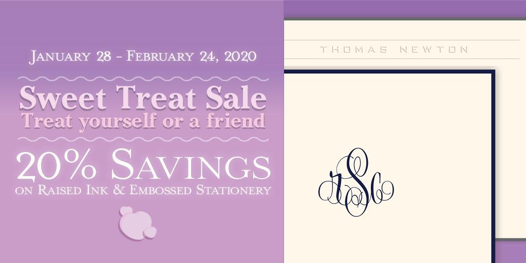Last chance to enjoy 20% savings!#stationery #monogram #personalized #ValentinesDay #ValentinesGift #ValentinesDay2020
