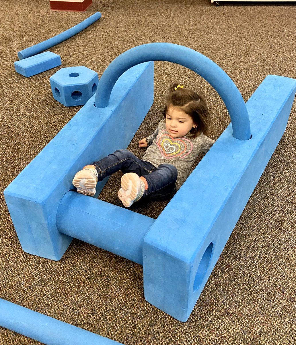 What a fun Friday for our young friends as they let their creativity shine at today's Imagination Playground! 😄 #rvclibrary #Libraries #Imagination #Play #LibraryFun