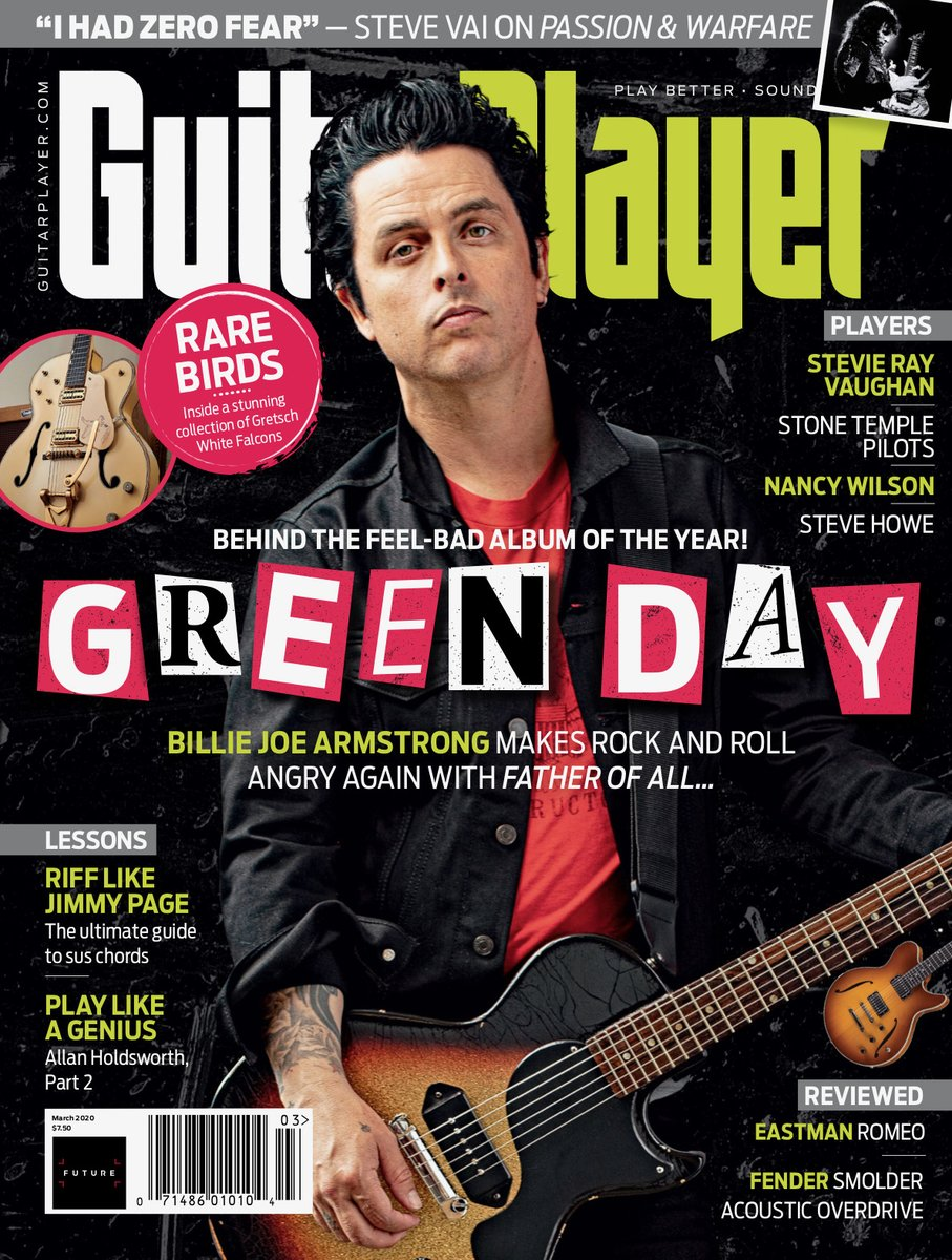 Replying to @GreenDay: .@BillieJoe serving looks on next month's cover of @GuitarPlayerNow 🎸🎶