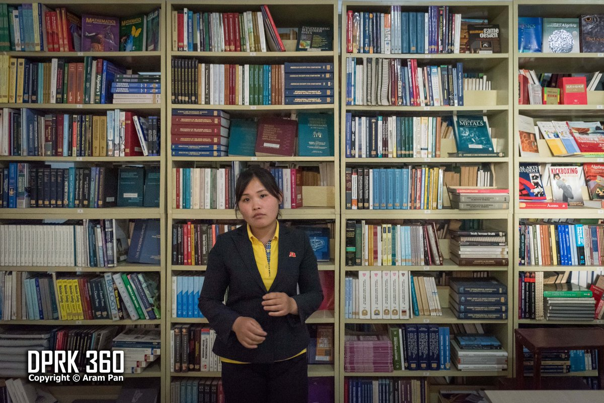 I preferred visiting this smaller Chongjin Public Library as compared to the Grand People's Study House in Pyongyang simply because the foreign language books here are so easily accessible. I could see, touch and pick up any one of the books. pic.twitter.com/5zzsiEBVnK