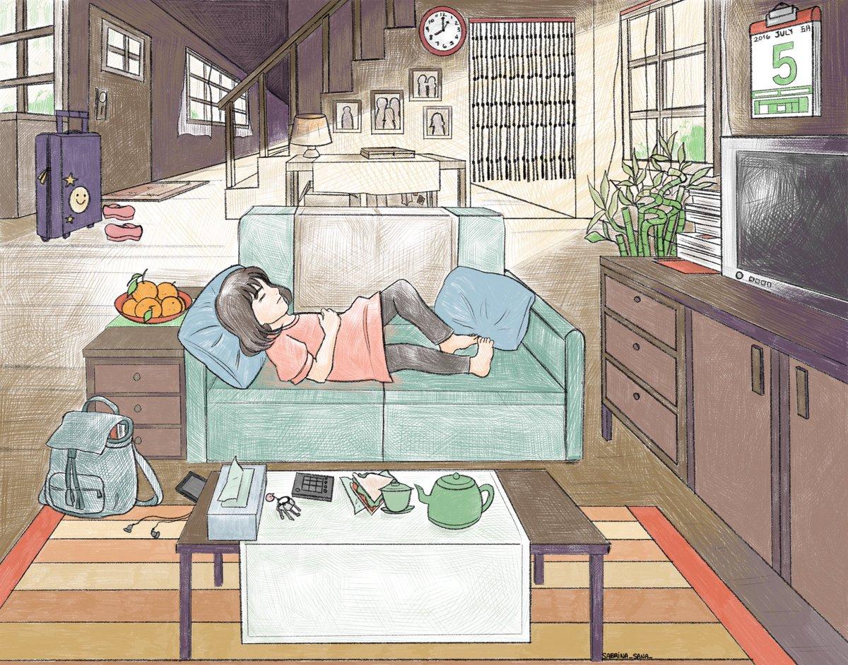 Home alone 😴  #illustration #drawing #art #digitalart #digital  #plants #girl #procreate #landscape #nature #cute #animegirl #anime  #fantasy #mangaartist #mangaart #illustrator #artist #cool  #happy  #アニメ #アート #design #love #미술 #digitalpainting #childrensbooks