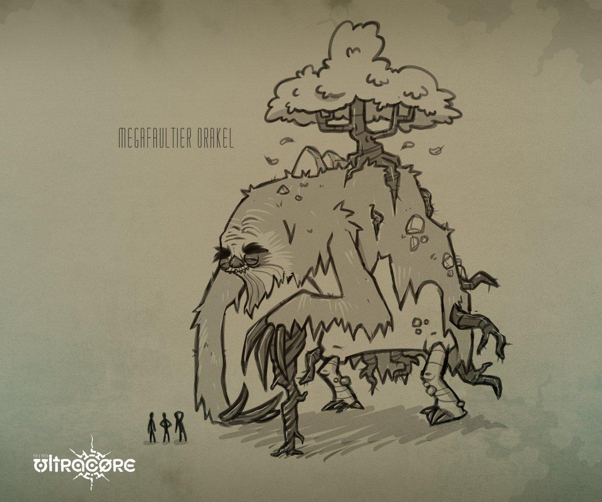 RT @Lugetersch: das megafaultier orakel! meine erste idee und zeichnung für dieses abenteuer #spitzestifte #rbtv https://t.co/OAUhljPriJ