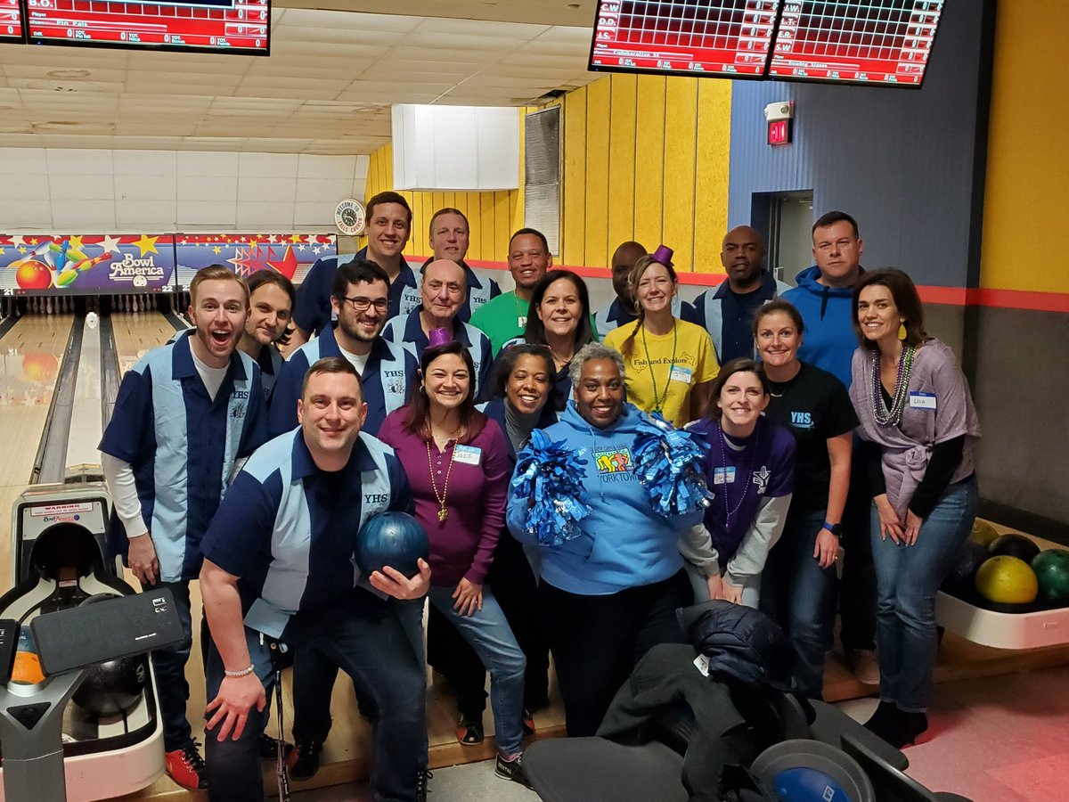 Yorktown faculty and staff getting their bowl at the Arlington EAP Bowling tournament. <a target='_blank' href='http://twitter.com/YorktownHS'>@YorktownHS</a> <a target='_blank' href='http://twitter.com/YorktownAPs'>@YorktownAPs</a> <a target='_blank' href='http://twitter.com/YorktownSentry'>@YorktownSentry</a> <a target='_blank' href='http://twitter.com/Principal_YHS'>@Principal_YHS</a> <a target='_blank' href='http://twitter.com/APSVirginia'>@APSVirginia</a> <a target='_blank' href='https://t.co/pa8fe5IEoG'>https://t.co/pa8fe5IEoG</a>