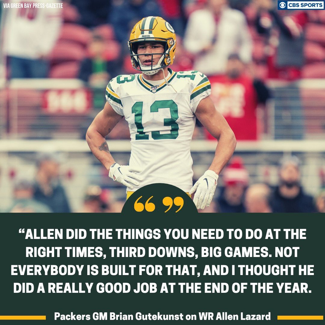 I agree. He was made for this sh*t!  @AllenLazard  #GoPackGo <br>http://pic.twitter.com/NfHmmB0kj7