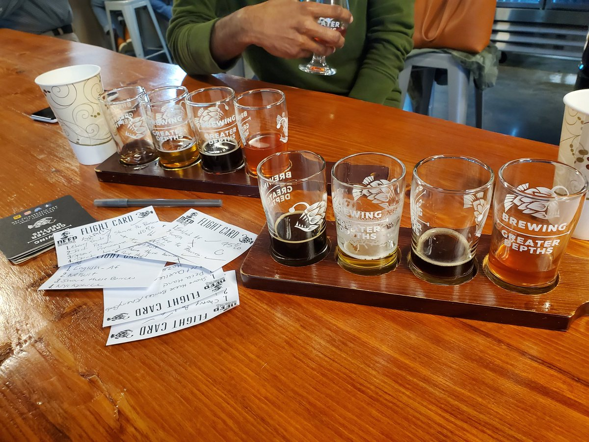 New, fun game - #BlindFlights. Guess the pour. @DeepBrew. @TLHBeerSociety @TLHBeerLadies