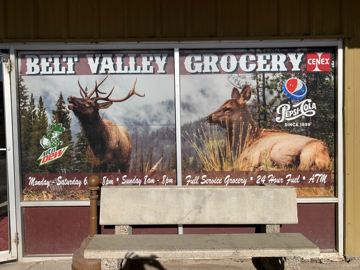Belt is tucked in a canyon not far southeast of Great Falls. The winds were so high this day that the electricity was out, but make sure to stop by Harvest Moon Brewing Co for local beer and Belt Valley Grocery for their renowned fried chicken! #mtsen #mtpol
