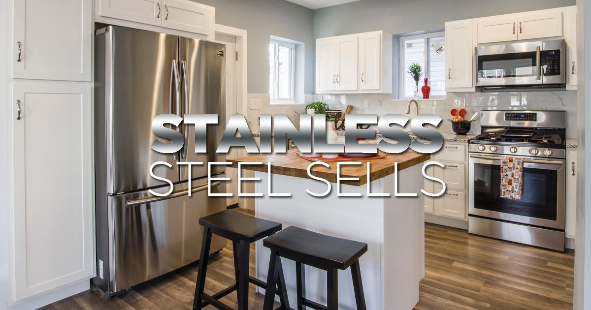 Upgrade major appliances to stainless steel. On-the-market homes with stainless steel appliances sell up to 42 days faster than homes without them.  #homeImprovement #homerenovation #design #family #remodeling #homedesign #homesweethome