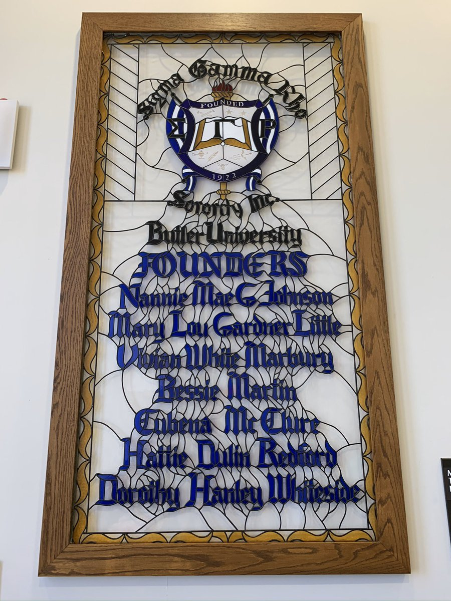 Shout out to the lovely sophisticated ladies of @sigmagammarho founded @butleru 1922. I saw this during my visit today. Snapped a shot and wanted to share! #BlackHistoryMonth2020 #BHM  #sisterhood #thewomancode <br>http://pic.twitter.com/Ze4VBFoEOy