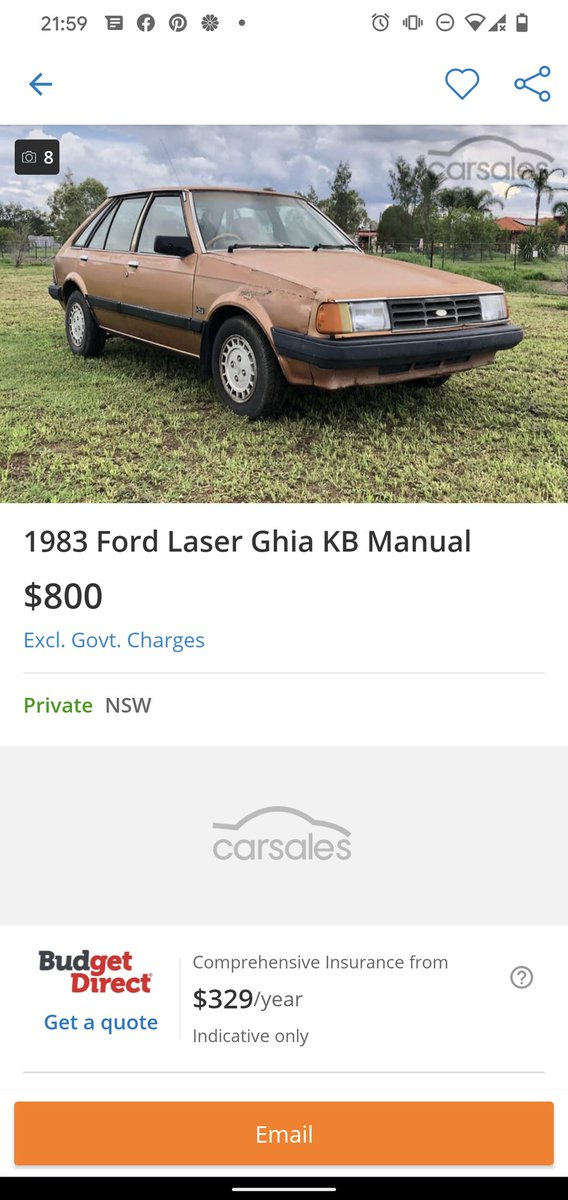 Dirt cheap on carsales. From a quick search I did. MCM bought one for giggles. pic.twitter.com/MRdeWFaQwO