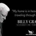 Image for the Tweet beginning: Two years ago, Billy Graham
