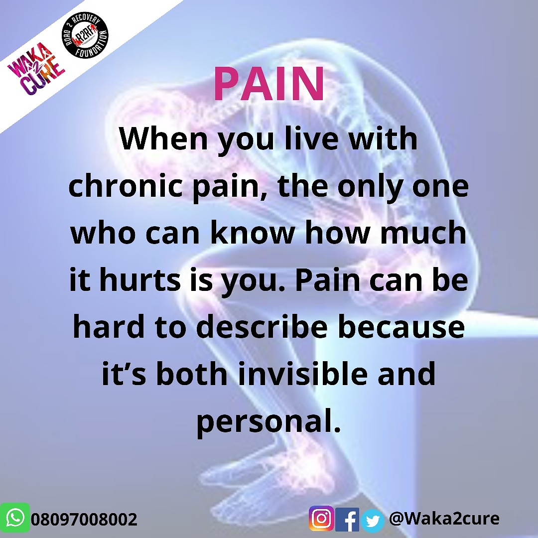 When you live with chronic pain, the only one who can know how much it hurts is you. Pain can be hard to describe because it's both invisible and personal .. #support #pain #survivor #health #workout #cardio #training #beactive #strong  #lifestyle #getfit #exercise