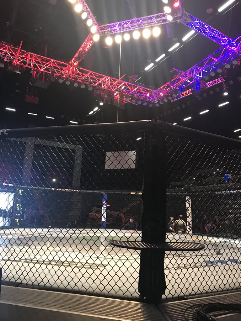first look at the Octagon in Spark Arena for #UFCAuckland