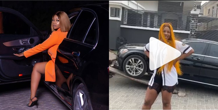#BBNaija Tacha makes boss move, sends her car to the UK to wait for her instead of taking UBER unlike so other 'bosslady'