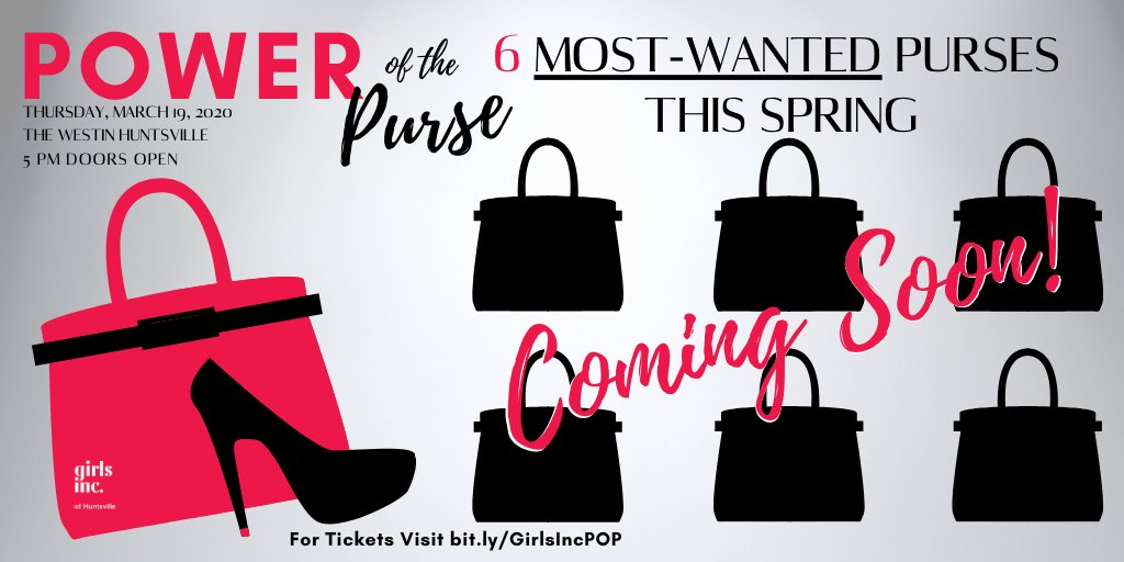 Get one of the most-wanted purses for this spring! Join us at the Power of the Purse  and bid on a one-of-a-kind design. Get your tickets now! http://Bit.ly/GIRLSINCPOP #girlsincpop #powerofthepurse #iHeartHSV #huntsvilleAL #alabamafashion #huntsvillefashionpic.twitter.com/KVsiTeLBrq