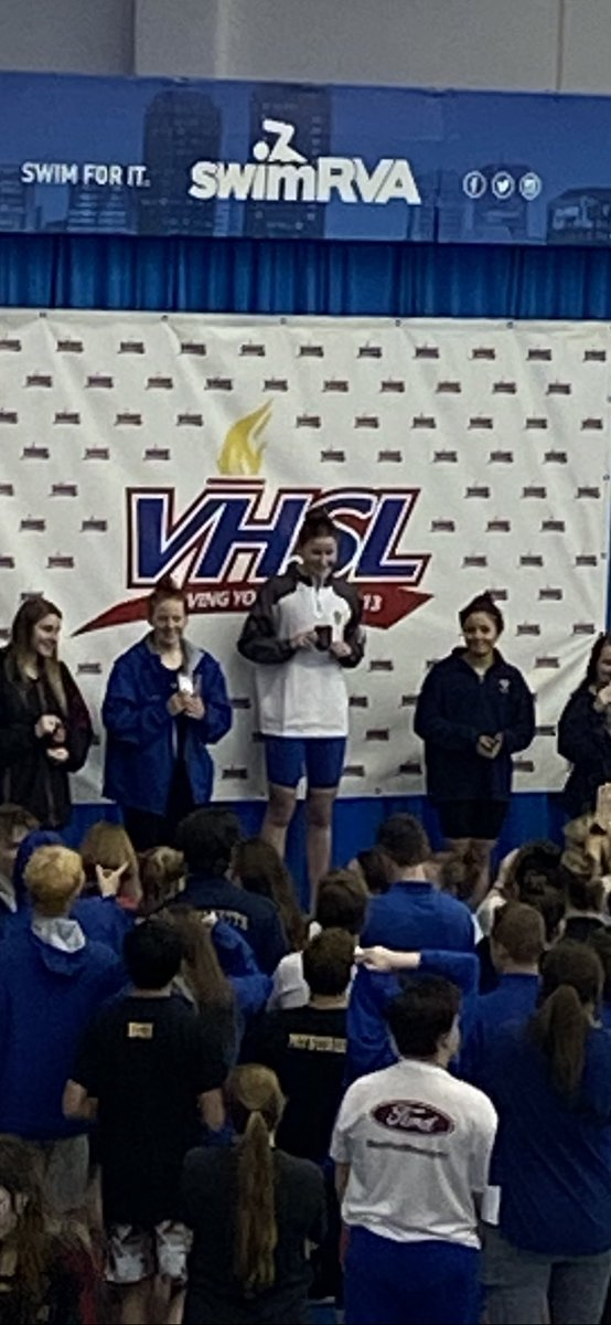Tatum Wall is our first ever state champion in swim!