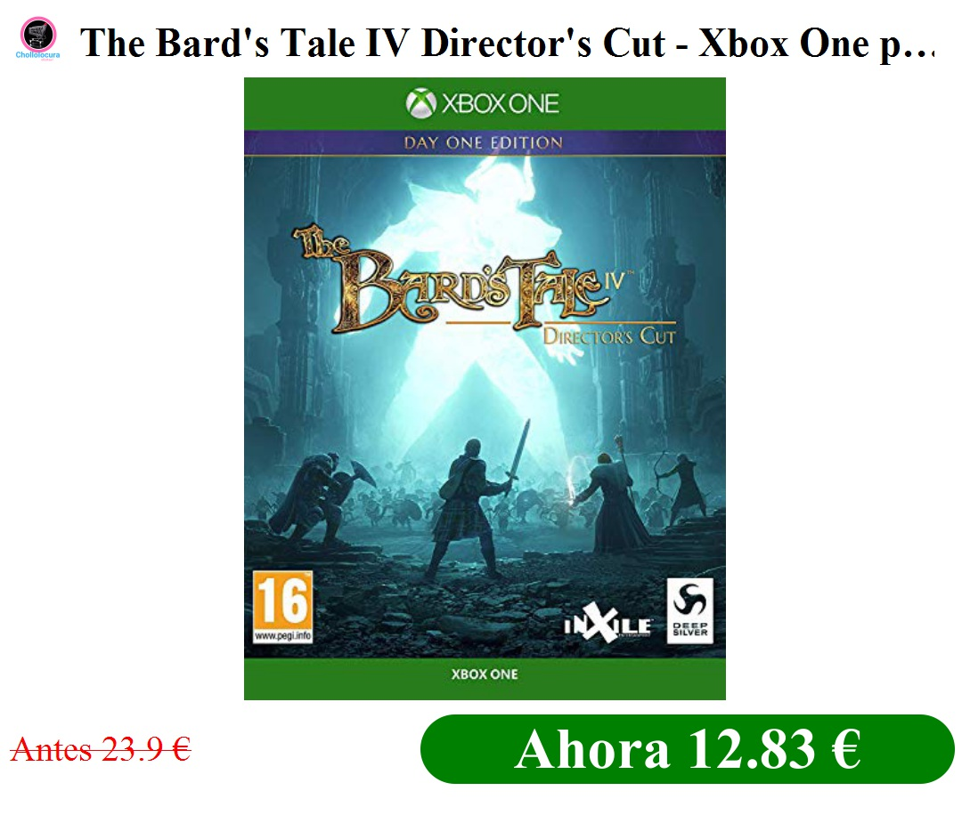 The Bard's Tale IV Director's Cut - Xbox One para Xbox Onehttp://bit.ly/2SaaFJt * HOY POR SOLO 12.83 €* (PVP 23.9 €)pic.twitter.com/b3jcmAt5A1